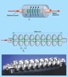 nine-cell superconducting cavity